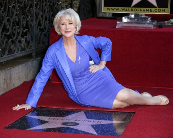 Helen Mirren, stella Walk of Fame a Hollywood